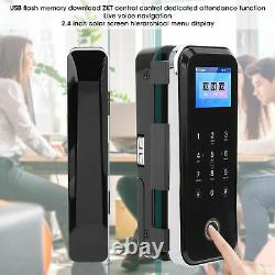 2.4 Electronic Glass Door Lock Fingerprint+APP+Password+IC Card Access Control