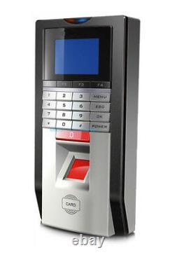 2 Doors Color Screen Fingerprint Bio Access Control Systems Kit ANSI Strike Lock