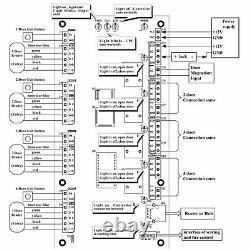 4 Door Access Control Panel Board with Power Supply Box Ethernet TCP/IP Door Locks