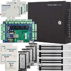 4 Door Network Access Control Board Panel AC220V Power Supply Box System Kit