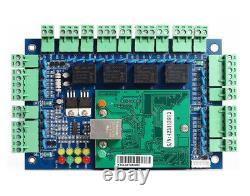4 Door TCPIP Access Control System Kit ANSI Strike Lock Keypad Reader 230V Power