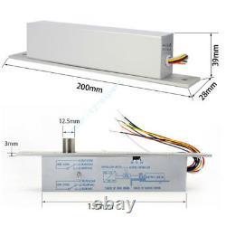 4 Doors Access Control Board Systems Kit Deadbolt Electric Drop Bolt RFID Reader