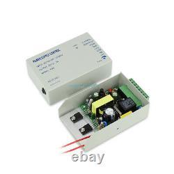 4 Doors Bio Fingerprint Entry Access Control Systems ANSI Strike Lock Power Unit