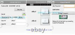 4 Doors TCP/IP Access Control Kit Panel Controller & AC230V Power Box +Bolt Lock
