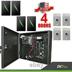 4 Doors ZK C3 400 Access Control Board Systems, readers kr101, buttons no touch