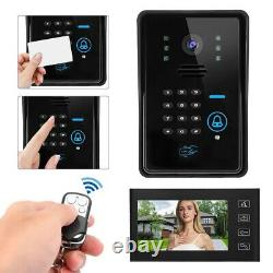 7in Video Doorbell Intercom Security Camera Door Access Control Bell Ring Phone