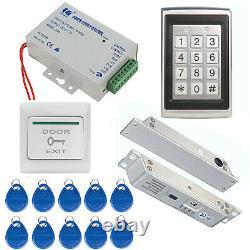 Access Control System w'/ Door Electric Drop Bolt Lock Power Keypad