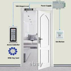 Door Access Control System Kit IP65 Waterproof Keypad RFID Keyboard + 180KG