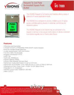 FPC-5011 Four Door Access Control System Outswing 300lbs Maglock with Remotes
