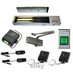 FPC-5051 1 Door Access Control 600lbs Electric Lock Door Closer Kit
