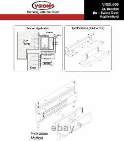 FPC-5052 One door Access Control inswinging door 600lbs Electromagnetic lock kit