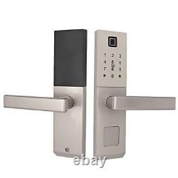 Fingerprint Lock Password IC M1 Card Key unlock Security Door Access Control