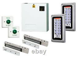 Interlock Airlock Keypad Access Control Door Entry Kit + Power Supply & Maglocks