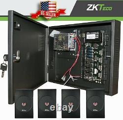 Kit ZKteco C3 series Door Access Control, ZK TCP/IP RS485 Panel/w Power, readers