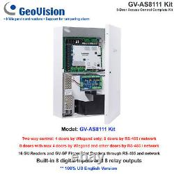 NEW! GeoVision GV-AS8111 Kit 8-Door Access Control Complete Kit/16 GV-Readers