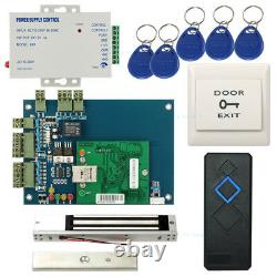 Network 1 Door Access Control Panel Systems Kit 600LB Magnetic Lock Power Supply