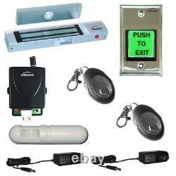 One Door Access Control with Electromagnetic Lock Wireless Receiver and PIR