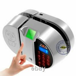 Open Hole Double open Fingerprint+password glass door lock for Access control