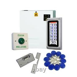Proximity Code Access Control Door Entry Kit with 10 Fobs, PSU, Lock Release