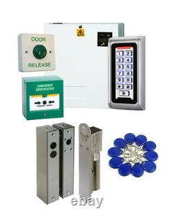 Proximity Keypad Access Control Door Entry Kit with Surface Mount Solenoid Bolt