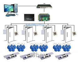RFID Proximity Entry Lock Door Access Control System Kits Controller/locks/power