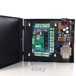 Security Network RFID Access Control Board Kit Metal AC230V Power Box For 4Door