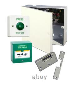Simple FAIL SAFE Lock Release Door Entry Kit, PSU, Exit Switch, Call Point