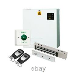 Simple Maglock Door Entry Kit, Power Supply Lock Timer 2 Radio Exit Switch Fobs