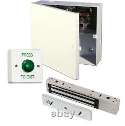 Simple Maglock Door Entry Kit, Power Supply, Maglock, Lock Time, Exit Switch