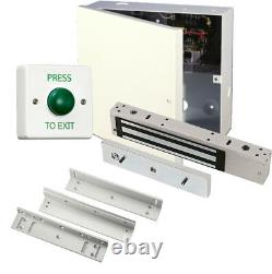 Simple Maglock Door Entry Kit, Power Supply, Maglock, Lock Time, Exit Switch Z&L