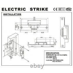 UHPPOTE 125KHz RFID EM ID Keypad Single Door Access Control Kit With Strike L