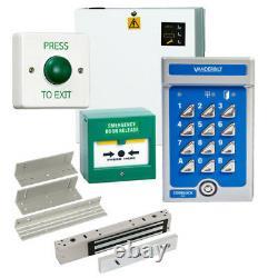 Vanderbilt V42 Code Access Control Door Entry Keypad kit with PSU Maglock, Z&L