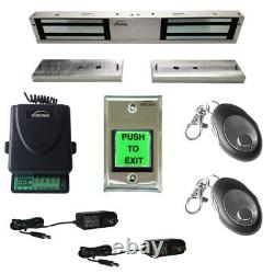 Visionis 1200lbs Double Door Access Control with Wireless Receiver and Remote