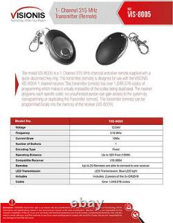 Visionis 5196 One door Access Control 300lbs Mortise Mag Lock Sliding Door Kit