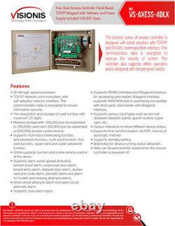 Visionis VS-AXESS-4DLX Four Door Network Access Control Panel Controller TCP/IP