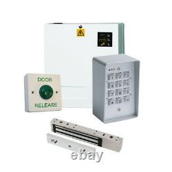 Weatherproof Code Access Control Door Entry PRO Kit + Power Supply Maglock Lock