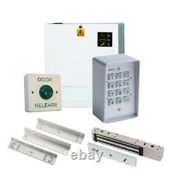 Weatherproof Code Access Control Door Entry PRO Kit Power Supply Maglock Lock ZL