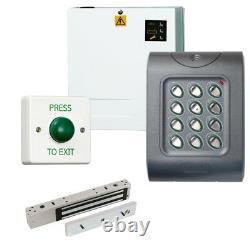 Weatherproof IP67 Code Access Control Door Entry Kit Power Supply MagLock REX