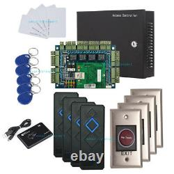 Wiegand TCP/IP Access Control Panel Board Kit AC230V Metal Power Box for 4 Doors