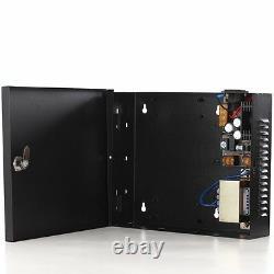 2 Panneau De Contrôle D'accès De Porte Avec Boîte D'alimentation Ethernet Tcp/ip Serrures De Porte