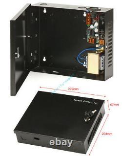 2 Portes Sécurité Contrôle D'accès 230v Power Box Sortie Motion Capteur Strike Non Verrouillage