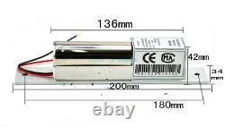 2 Portes Tcp/ip Panneau De Contrôle D'accès Kit D'alimentation De Boulon Électrique