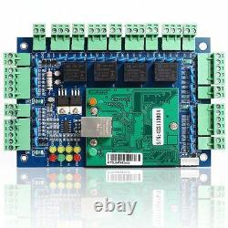4 Panneau De Contrôle D'accès De Porte Avec La Boîte D'alimentation Ethernet Tcp/serrures De Porte Ip