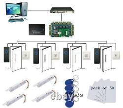4 Portes Access Control Board Systems Kit Deadbolt Electric Drop Bolt Rfid Reader