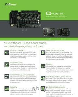 4 Portes Zk C3 400 Access Control Board Systems, Lecteurs Kr101, Boutons Sans Toucher