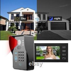 7in Video Doorbell Intercom Caméra De Sécurité Contrôle D'accès De Porte Bell Ring Téléphone