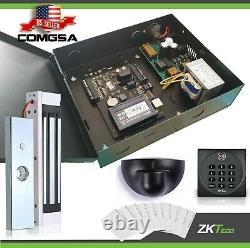 Contrôle D'accès 1 Porte Zkteco, C3 100 Kit Système D'entrée De Porte Zk, Sortie Montion. USA