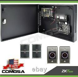 Contrôle D'accès 2 Porte Zkteco, C3 200 Kit Système D'entrée De Porte Zk, Sortie Montion. États-unis
