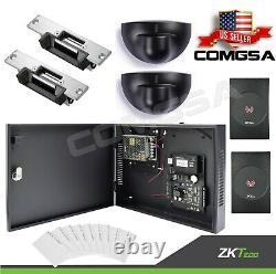 Contrôle D'accès 2 Porte Zkteco, C3 200 Kit Système D'entrée De Porte Zk, Sortie Montion. USA
