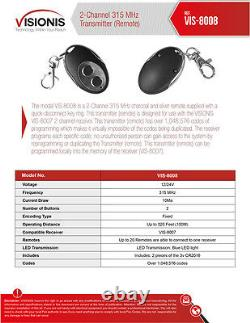 Contrôle D'accès À Deux Portes Visionis Avec Télécommande De Récepteur Sans Fil Maglock 600lbs